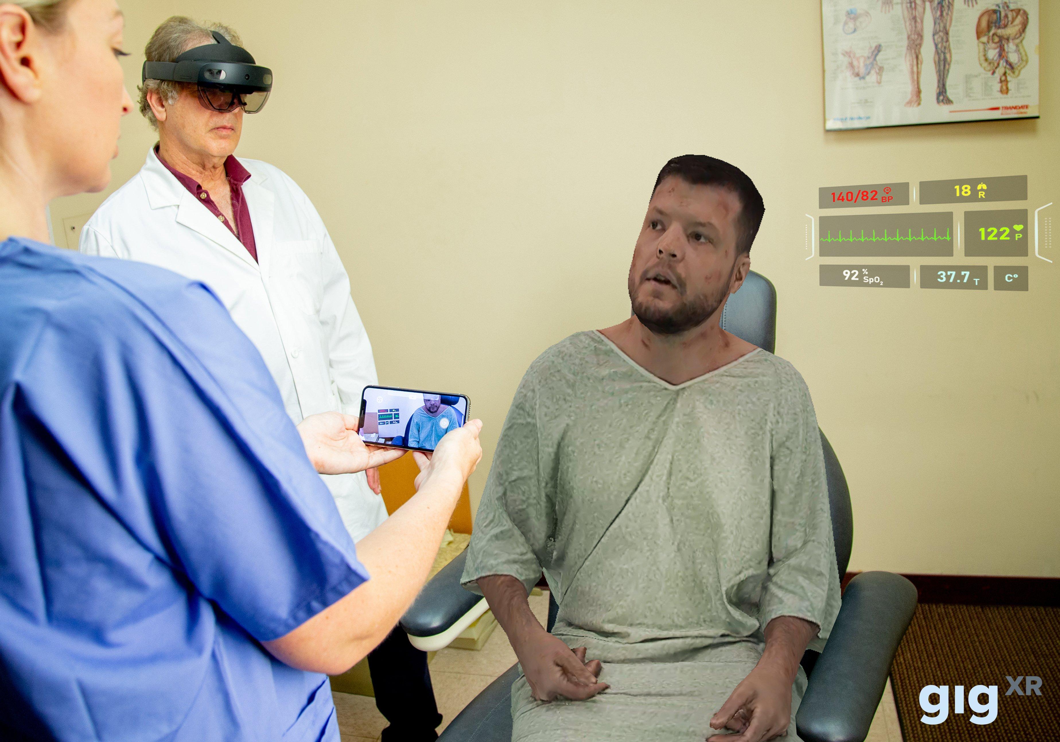 Holographic Standardized Patients